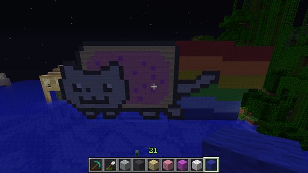 Nyan Cat In Minecraft (Angle 3) by RachyTehPengie