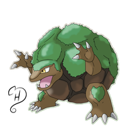 Alolan Golem by cdhernly