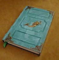 Mermaid nautical Themed Tome Grimoire Sketch Book by RaptorArts