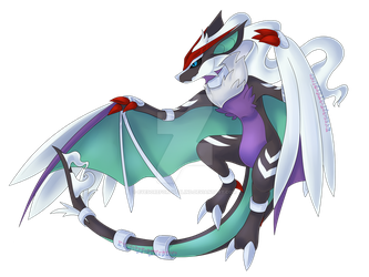 Noivern/Reshiram by EyesoreForTheBlind