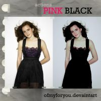 actions pink black by Ofmyforyou