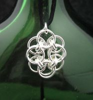 Simple Sterling Helm Pendant by andrewk1969