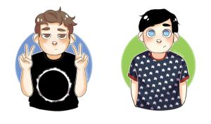 Dan and Phil by Somiless