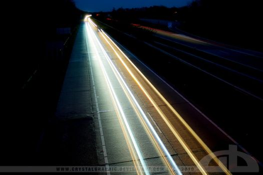 lights on the highway II by CrystalGraphic