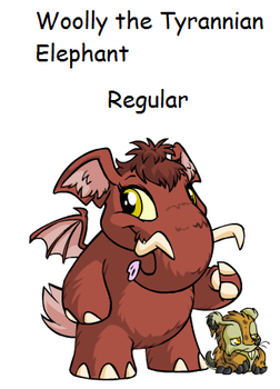 Woolly the Tyrannian Elephante by TannerxDelia