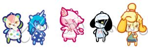 ACNL Charms by twiichii