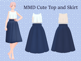 MMD Cute top and skirt DL by 0-0-Alice-0-0