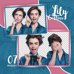 PACK PNG 139 // LILY COLLINS by fetishpngs