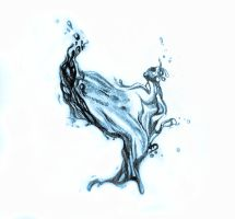 Water splash drawing by oanaunciuleanu
