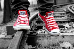 Converse Red by AsiiMDesGraphiC