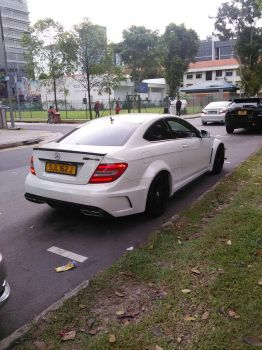 White Mercedes-Benz C63 AMG Black Series Coupe by Amgnismo