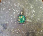 Hand painted cottage door pendant by FeynaSkydancer