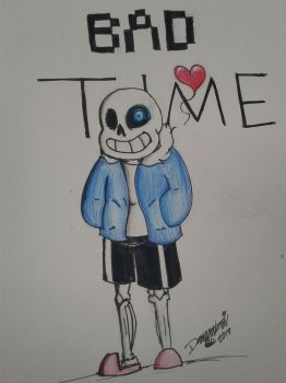 Sans, the badass skeleton by DevennaSori