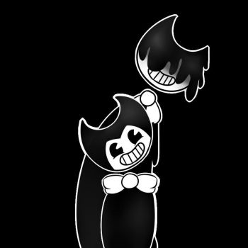 Bendy and melted Bendy by Wibby-Wolf