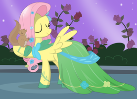 Fluttershy at the gala by tgolyi
