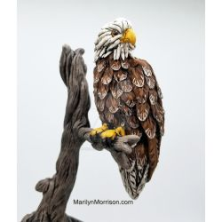 Polymer Clay Eagle by MarilynMorrison