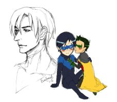 Dick and Damian by vvvviola