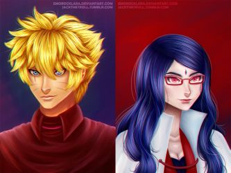 BORUSARA: Hokage and Her Right Hand Man by jacqthehermit