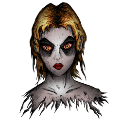 My little babe (undead girl) colored by brfa98