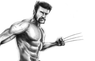 Wolverine BW by KevinG-art