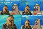 Chewbacca goes to the Salty Spitoon by AutobotHoneflash