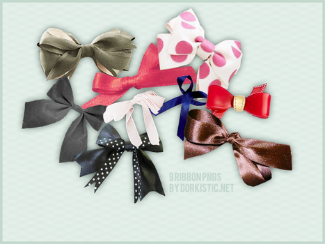 OBJECT PNG: RIBBON SET 1 by chazzief