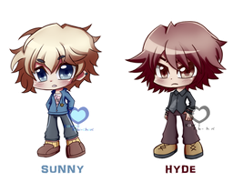 [Commission] - Sunny and Hyde by Kawaiirebichan