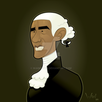President Obama by WarBrown