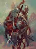 Sariel, Angel of the Waning Moon by PeteMohrbacher