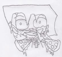 Pizza Face by CutieJenna