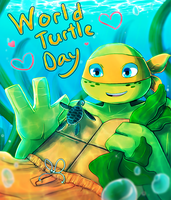 Happy World Turtle Day! by CutieClovers