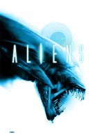 Aliens poster 2 - white background by RobertoDS