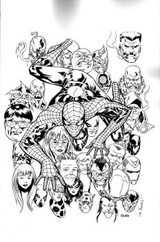 Spidey cover by Guile by Picturecar