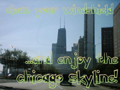 chicago skyline by weezle