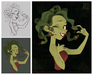 Medusa (2015): Sketch to Final Design by DianaMaRble