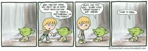Star Wars Funnies: Yoda by kevinbolk