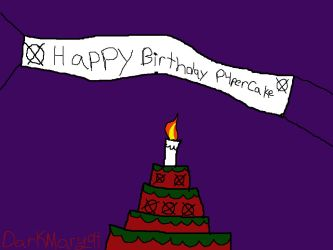 Happy Birthday P4perCake by DarkMary94