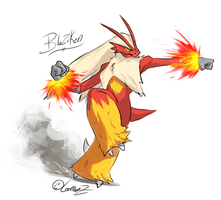 Pokemon: Blaziken by LeemonZ