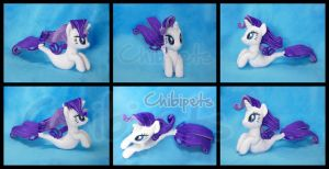 Rarity  ( SeaPony) Custom Plush by Chibi-pets