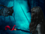 Red Riding Hood lost in Wonderland by PerseCore