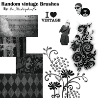 random Vintage Brushes by jenovad