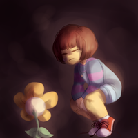 *You and Flowey exchange a knowing look by dead-coffee