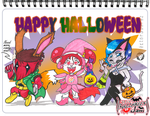 {ArtJam} Halloween 2017: Candy Chasers by Numbsoul