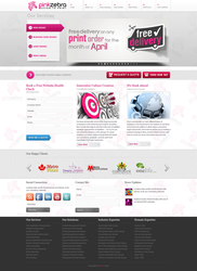 Pink Zebra Website Layour by IAKhan