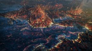 Volcano Worms landscape by aiiven