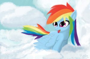 In the Clouds by M3ales
