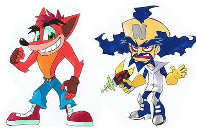 Crash and Cortex redesigns by Strixic