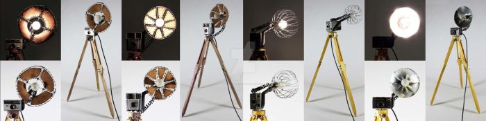 Vintage Camera Lamps by themindisright