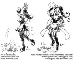 Maid throwing plate prev 1 and 2 2012 by arrakisart