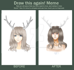 Deer Girl Before and After